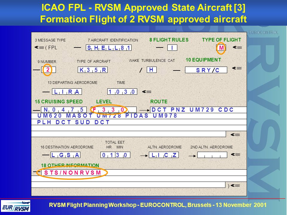 ICAO FPL - RVSM Approved State Aircraft [3]